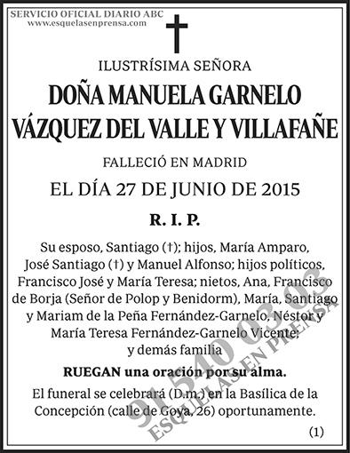 Manuela Garnelo Vázquez del Valle y Villafañe